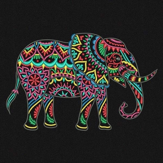 Picture of Multi-Color Elephant
