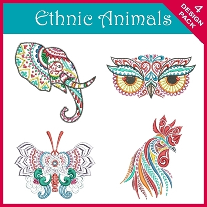 Picture of Ethnic Animal 4 Design Pack