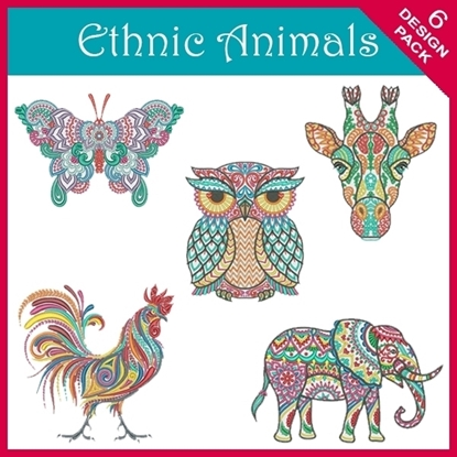 Imagen de Ethnic Animal 6 Design Pack