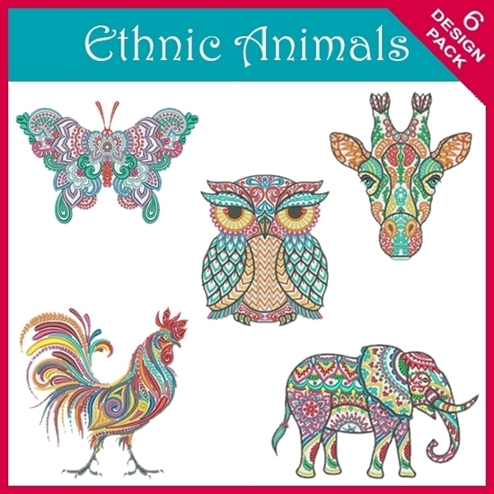 Picture of Ethnic Animal 6 Design Pack