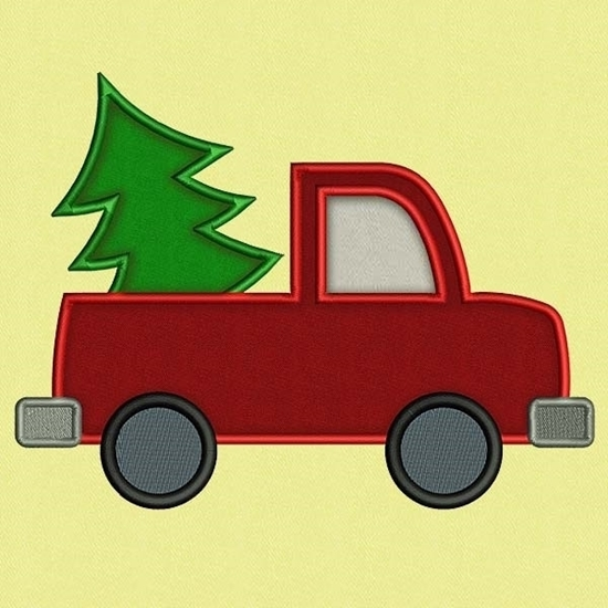 Picture of Applique Christmas Tree & Truck